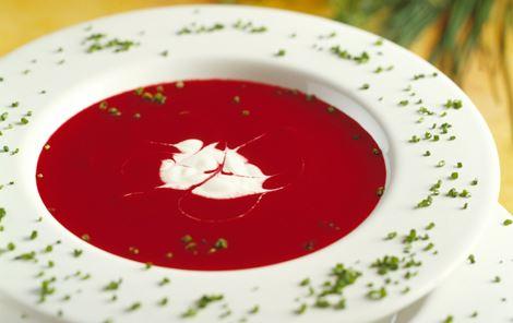 Rødbedesuppe med purløg