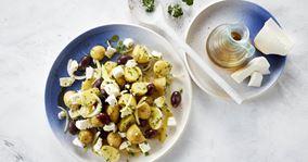 Lun græsk kartoffelsalat