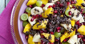 Tropisk frugtsalat uden dikkedarer