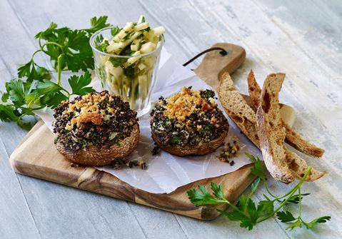 Portobello svampe med quinoafyld
