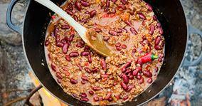 Chili con carne - lavet over bål