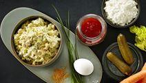 Æggesalat med karry og hytteost