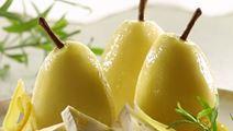 Ingefærsyltede pærer med peber og estragon
