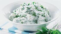 Kartoffelsalat med mynte