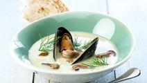 Aspargessuppe med muslinger og noilly prat