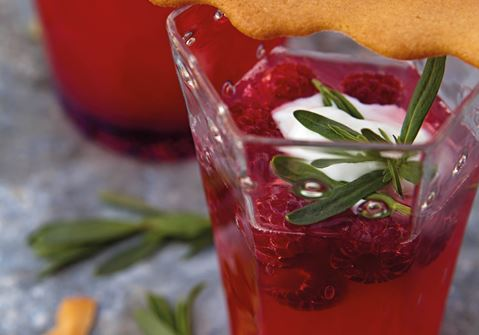 Rabarbersuppe med hindbær