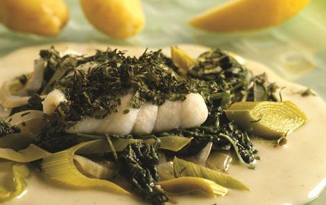 Fiskepakker med spinat
