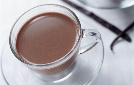 Kaffe med vaniljekakaomælk