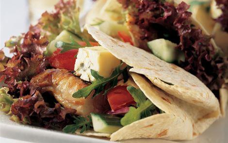Tortillawraps med blåskimmelost
