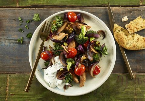 Kylling og grøntsager i wok
