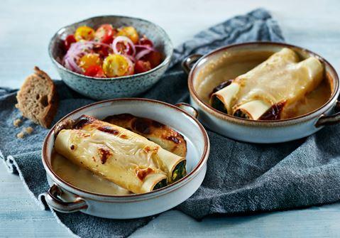 Cannelloni med spinat og hytteost