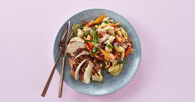 Grillet kylling og lun pastasalat