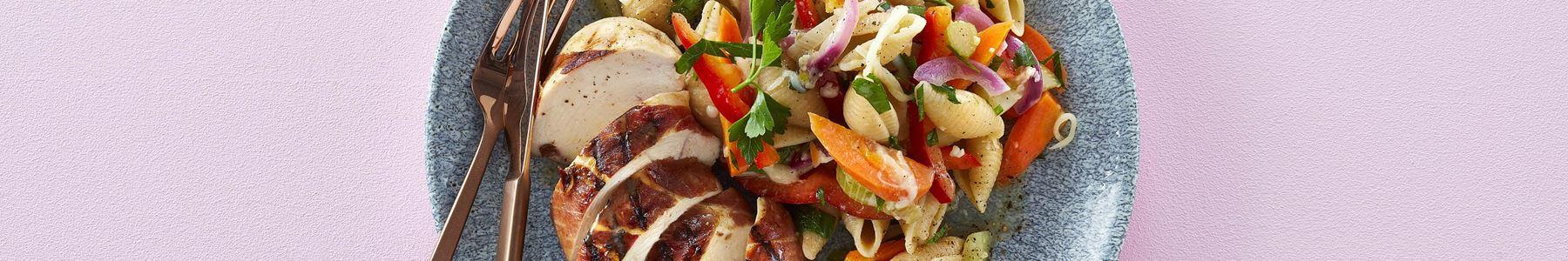 Salater + Pasta + Efterår + Sommer