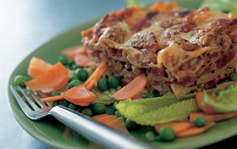 Lasagne med kalkun eller oksekød