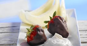 Jordbær dyppet i chokolade