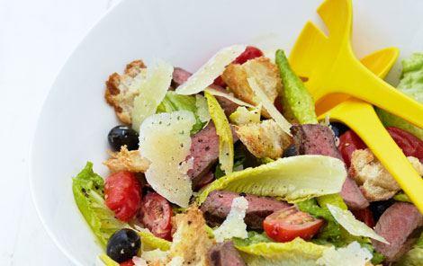 Cæsarsalat med ekstra fyld