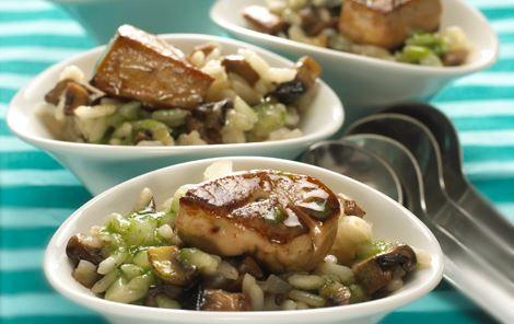 Cremet risotto med svampe og foie gras