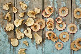 Tørrede æble- og pæreringe