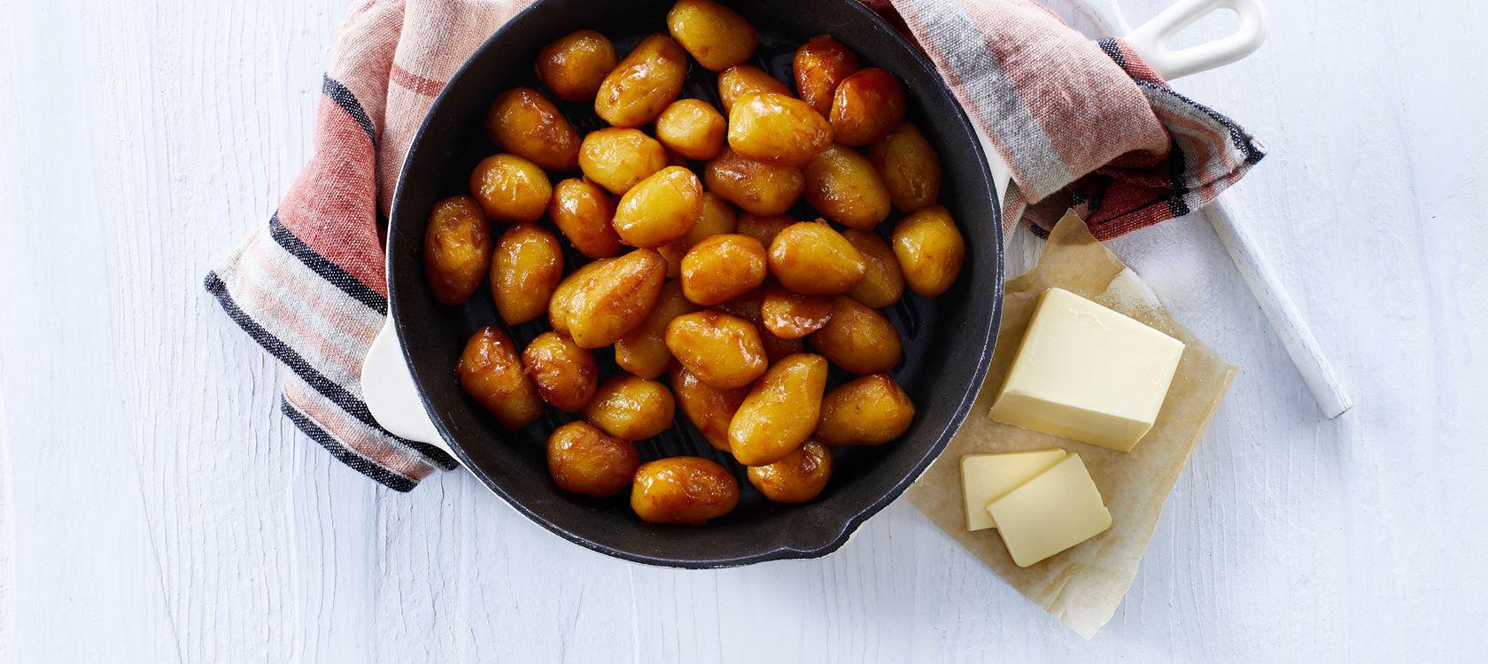 Brunede Kartofler Opskrifter Arla