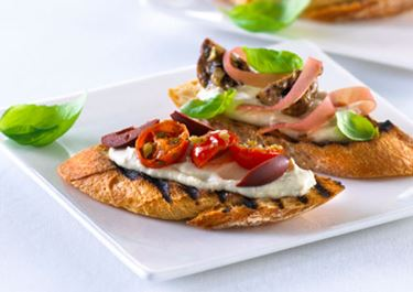 Bruschetta med auberginepuré