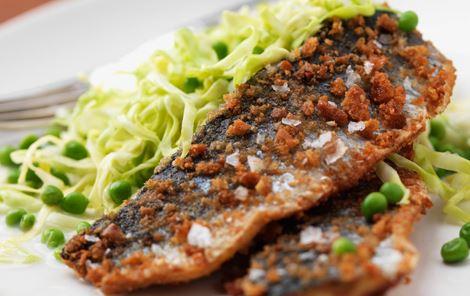 Vårsild og kålsalat med wasabi