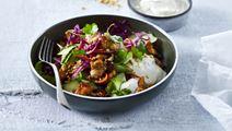 Banh Mi salat med yoghurtdressing