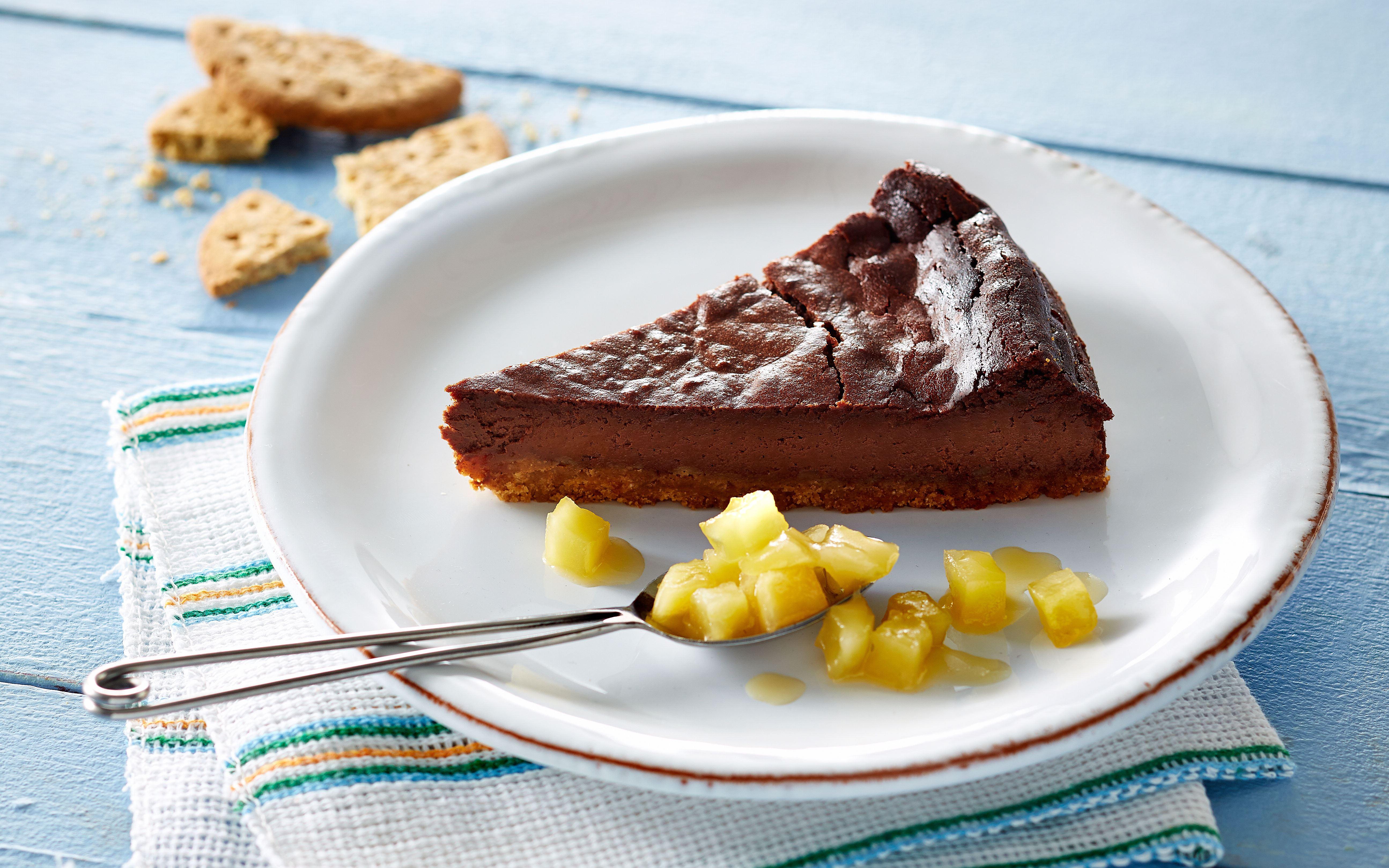 Chokoladekage med sprød bund