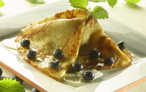 Pandekager med blåbær