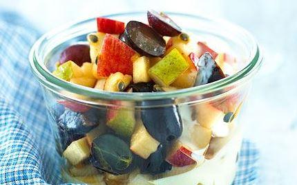 Hedelmäsalaatti talven hedelmistä