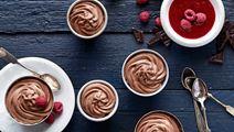 Suklaamousse ja vadelmamelba