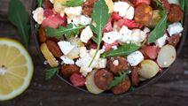 Peruna-vesimelonisalaatti Apetinalla