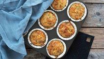 Ruokaisat juusto-salamimuffinssit