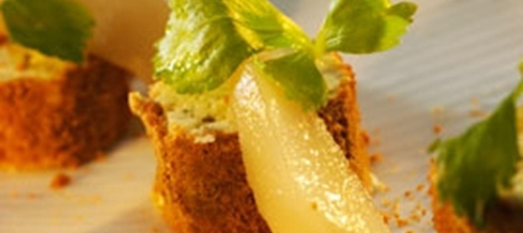 Sinihomejuusto-piparirullat