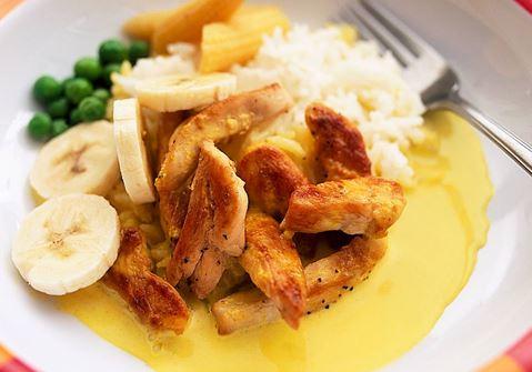 Banaani-currykana