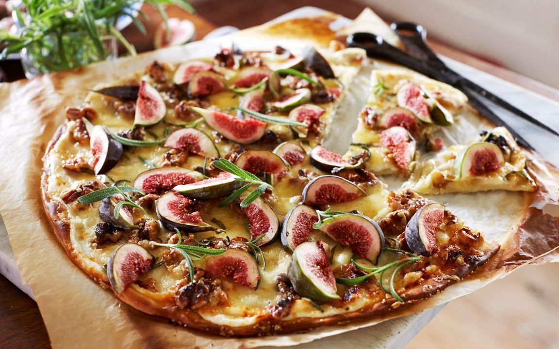 Viikuna-rosmariinipizza