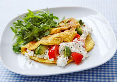 Avokado-omeletti