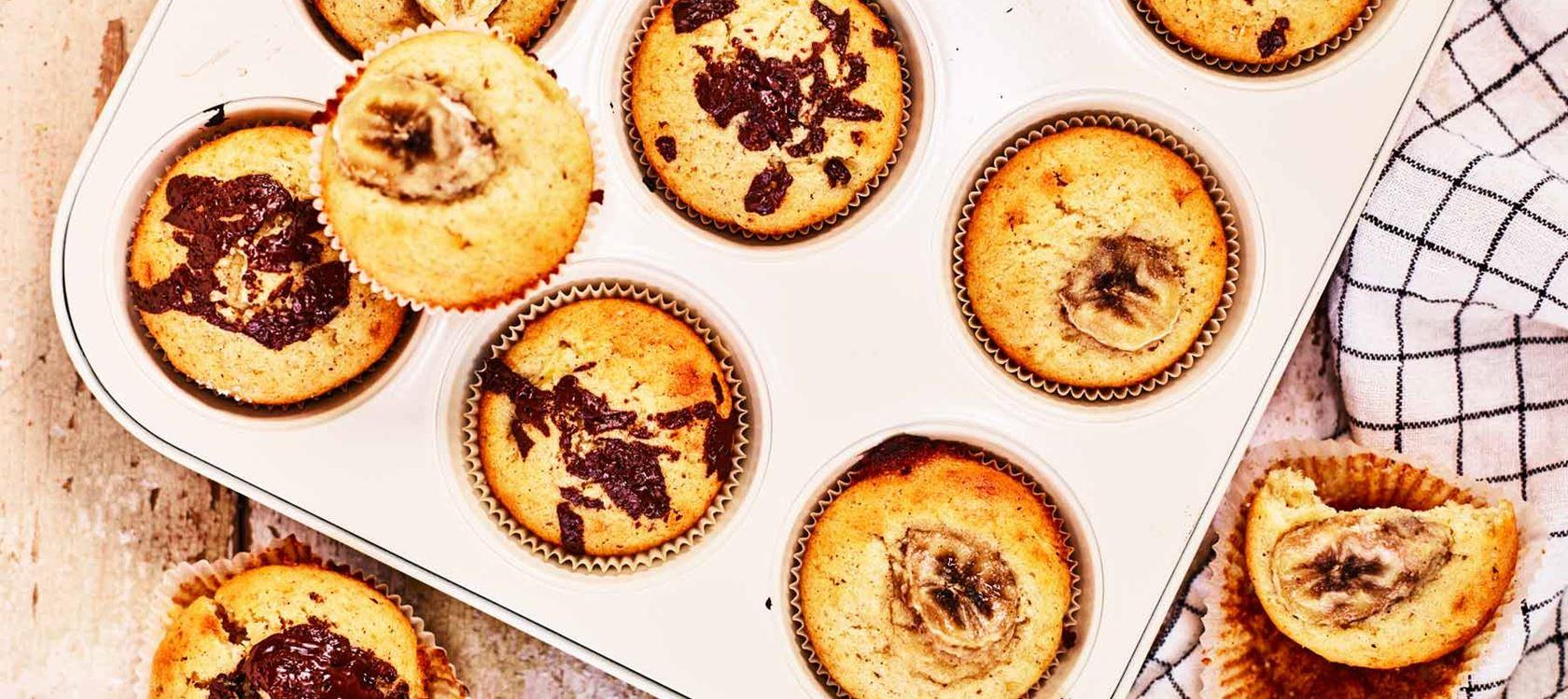 Suklaa-banaanimuffinssit