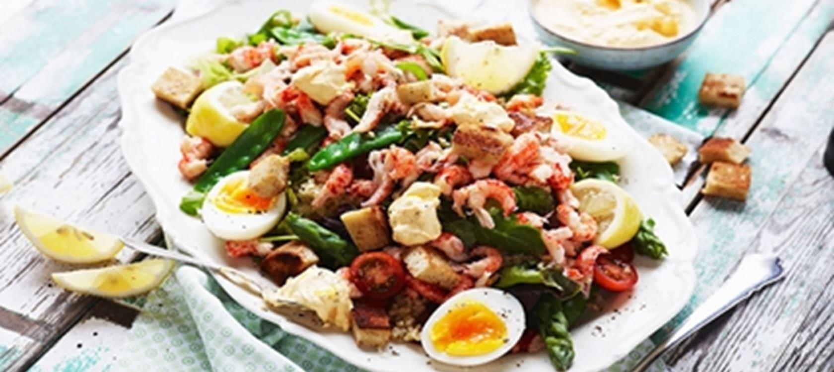 Kananmuna-bulgursalaatti