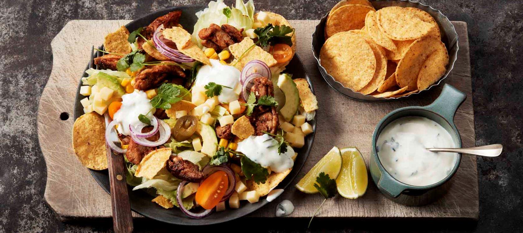 kana taco salaatti