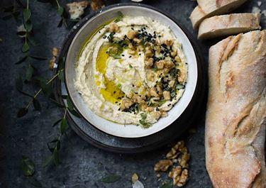 Hummus juustolla