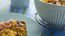 Juustoinen kinkku-perunavuoka