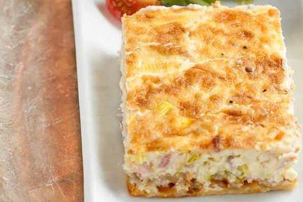 Gluteeniton juustocrème-pekoni quiche