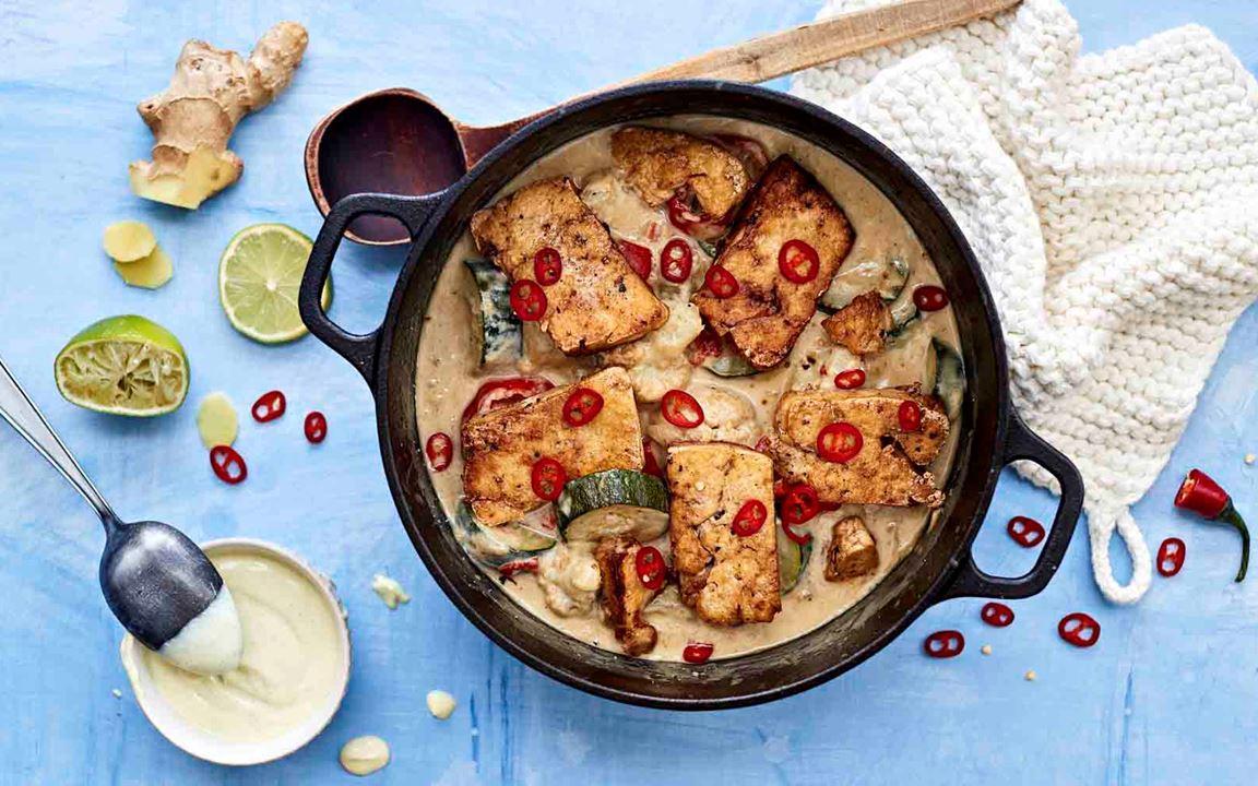 Inkivääri-lime-tofupata