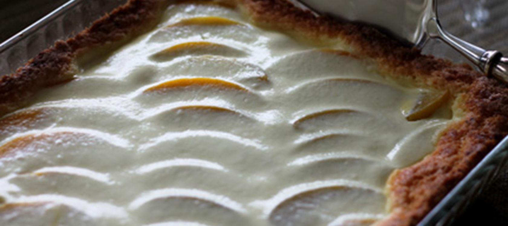 Persikka-rahkapiirakka