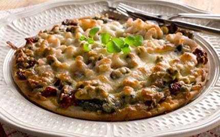 Merenherkku-pinaattipizza