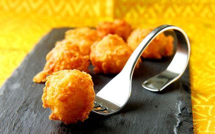 Friteeratut juustopallot