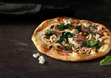 Sinihomejuustopizza