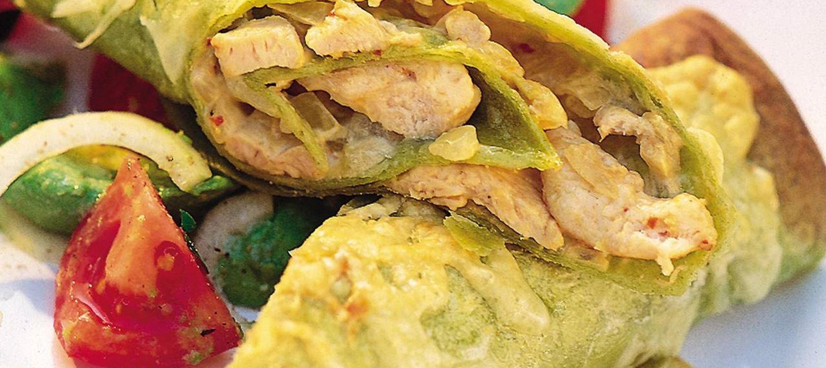 Enchiladat kanatäytteellä