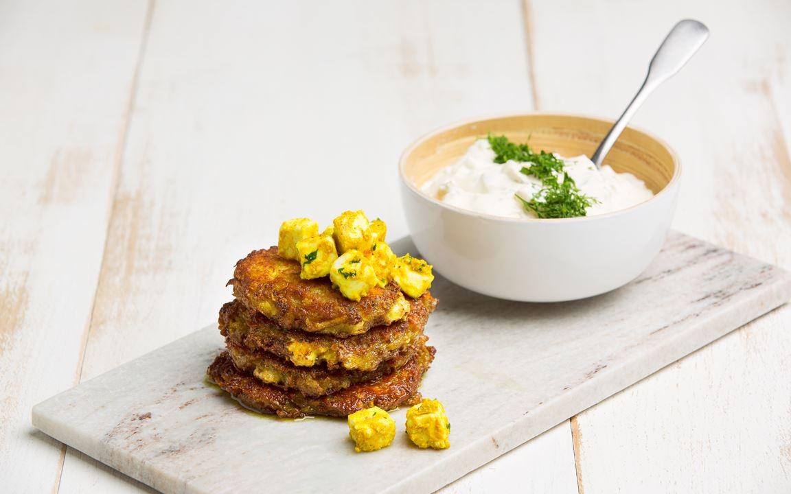 Intialaiset juusto-perunaröstit