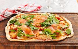 Pinaatti-lohipizza
